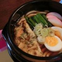 鍋焼きうどん&豆もやしナムル&枝豆天