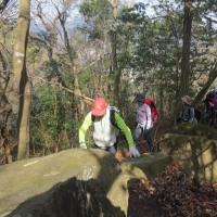 ⑰ 火山~丸山~大茶臼山縦走登山 : 大岩