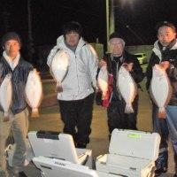 9時便でヒラメ釣りです。