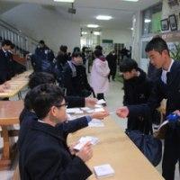 平成29年度生徒会役員選挙投票風景