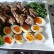 手羽元の醤油、酢、マーマレード煮 ・ 煮卵