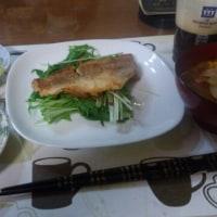 3月24日夕 赤魚の一夜干しのバターしょうゆソテー