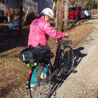 自転車通学、初めての荷台