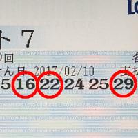 ロト7第199回、ナンバーズ3.4第4596回抽選結果