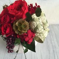 真紅のバラを