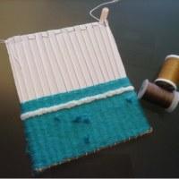 ダンボール織り機でポシェット作り