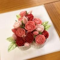 オーダー『ソープカービング☆薔薇のアレンジ』完成