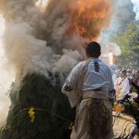 般若寺の護摩焚き