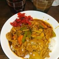 「今日のお昼ご飯」!!「鶏野菜カレーライス」!!