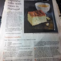 アメリカの新聞のカステラレシピ