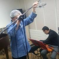 今日はヴァイオリンのレコーディングでした。