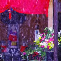 大津の町の雪