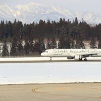 秋田空港 冬のチャーター機