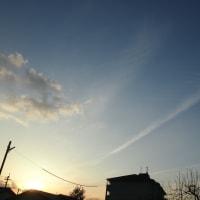 2月24日の青い空に!