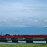 梅雨入り、静かな富山湾、静かにノウゼンカズラ咲き始め・・・富山市水橋
