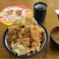 今日のお昼ごはん てんやの野菜天丼