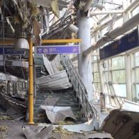 天津甘栗じゃなく、支那天津のドンハイ・ロード駅の状況です。