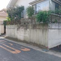 倉敷市栗坂で境界塀の塗装工事計画