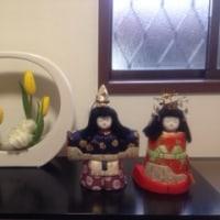 2月のお花と雛人形