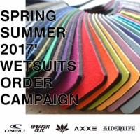 [ WETSUITS ORDER CAMPAIGN~. 2017' SPRING SUMMER ]