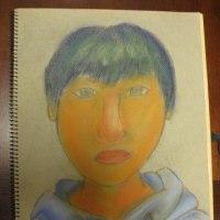 自画像を描く