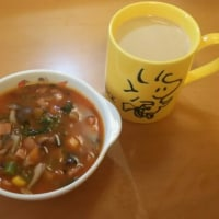 スヌーピーの食器で朝ごはん(*^^*)