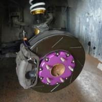 S2000 ブレーキローター・パット ブレーキホース交換