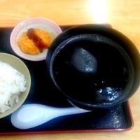 イカスミ汁を食べました。
