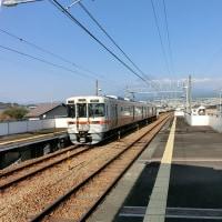 身延線堅堀駅から富士山を望む