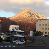 旭山の冠雪