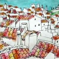 1179.サンタ・ルシア要塞とエルヴァスの屋根