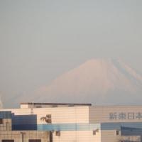 富士山が🗻見えました。久しぶりです。