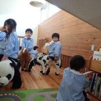 あお 3歳児 グループ活動