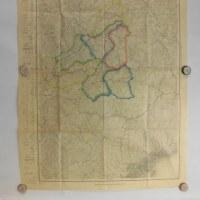 三田.神戸.昭和4年 5万分之1地形図2枚綴り仕上げ