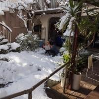 大雪の中記念撮影