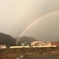 真の父母の日に道場町で虹を見た 2017年3月28日 PM5