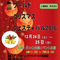 渋谷代々木公園/ワールドクリスマスフェスティバル2016