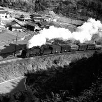 蒸気機関車 伯備線苦ケ坂越え