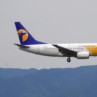 モンゴル航空 B737 FUK