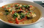 白身魚のマドラスココナッツカレー
