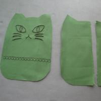ネコ型ポケットテッシュカバーできました!