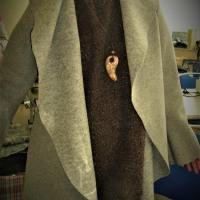 大きな襟の羽織り物(カットソー生徒作品)