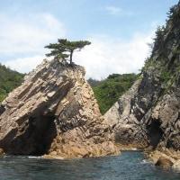 囲碁と浦富(うらどめ)海岸千貫松島