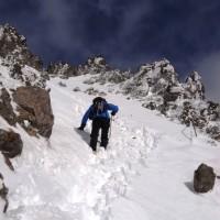 赤岳と横岳:今までにない緊張感