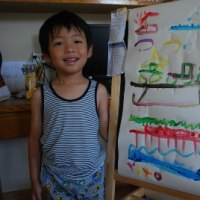 お絵かき 4歳8ヶ月