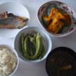インゲンとオクラ、カボチャなど一汁三菜をつくってみた(かるぴか)