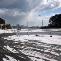 国見峠 路面凍結