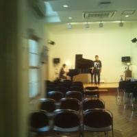 今日はバリトン歌手多田先生のリサイタル