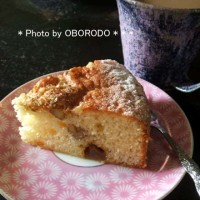 胡桃と豊水梨のケーキ