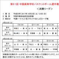 [開催中]第61回中国高校選手権山口県予選会